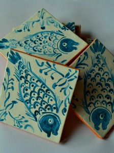 Two Three Portugues fish tiles